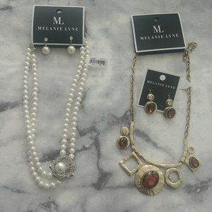 2 Necklace and Earrings set sold  in a Bundle